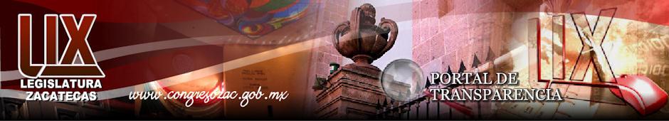 Poder Legislativo del Estado de Zacatecas - Header